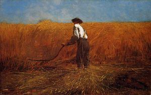 Winslow Homer - The Veteran in a New Field - (paintings reproductions)