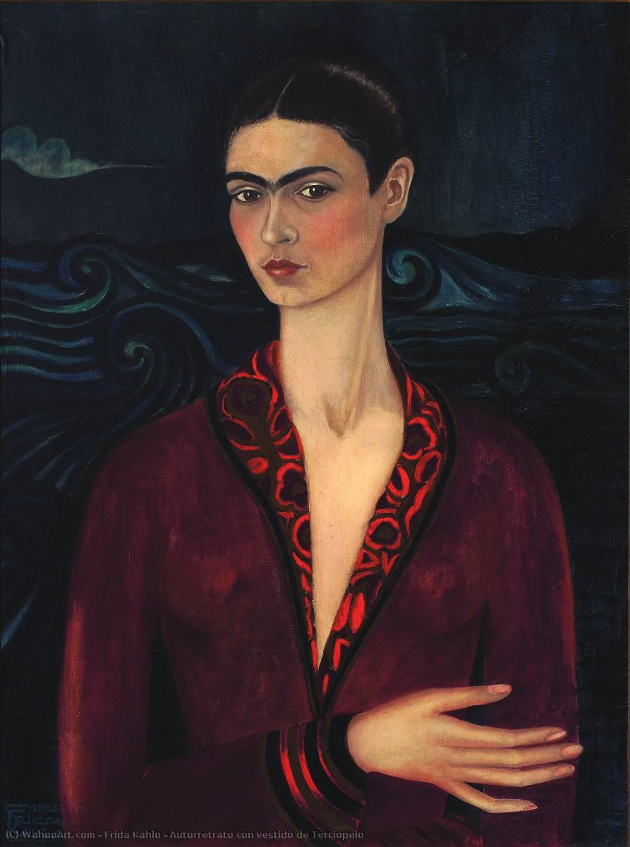 Autorretrato Con Vestido De Terciopelo By Frida Kahlo 1907
