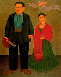 Frida Kahlo - Frida y Diego Rivera - (oil painting reproductions)