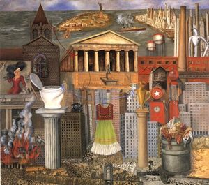 Frida Kahlo - My Dress Hangs There - (oil painting reproductions)