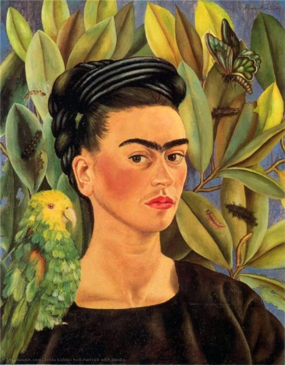 Frida Kahlo Mexican self-portraits painter Self-taught Vintage Art Print Poster