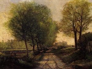 Alfred Sisley - Lane near a Small Town - (Famous paintings)