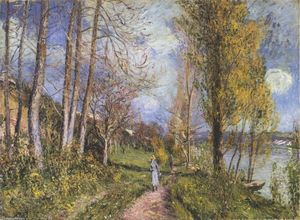 Alfred Sisley - Near the Seine at By