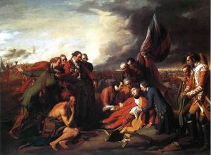 Benjamin West - The Death of General Wolfe - (Famous paintings)