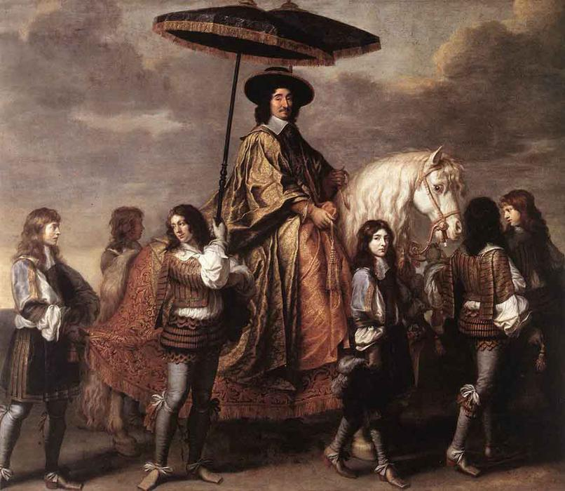Chancellor Séguier at the Entry of Louis XIV into Paris in 1660 by Charles Le Brun (1619-1690, France) | Paintings Reproductions Charles Le Brun | WahooArt.com