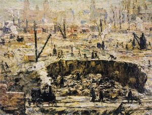 Ernest Lawson - Excavation - Penn Station