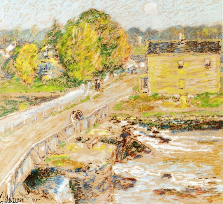 Cos Cob by Frederick Childe Hassam (1859-1935, United States) | Museum Quality Reproductions | WahooArt.com