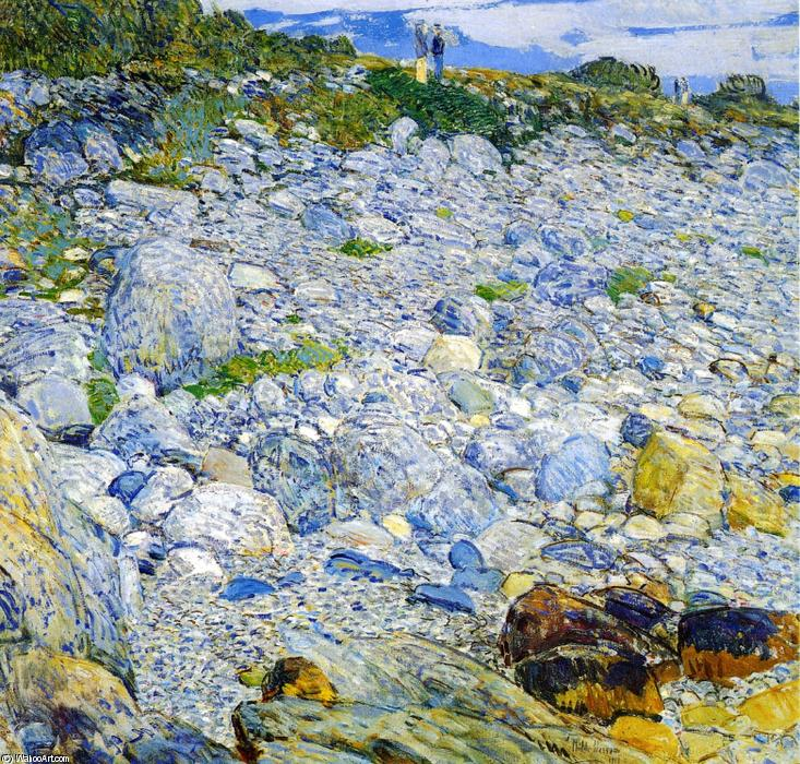 Rocky Beach, Appledore, 1913 by Frederick Childe Hassam (1859-1935, United States) | Museum Quality Reproductions | WahooArt.com