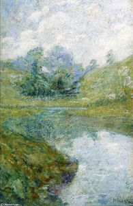 John Henry Twachtman - Landscape 3 - (Famous paintings)