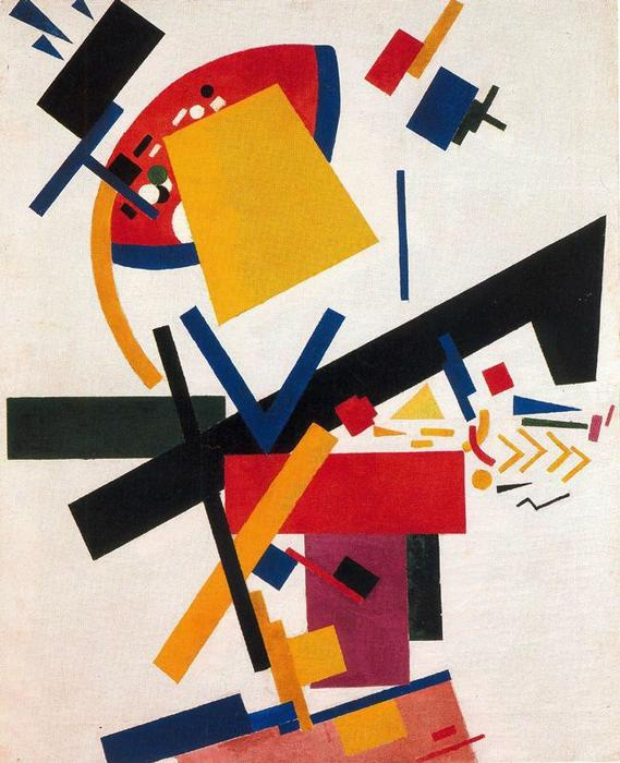 Kazimir Malevich Painterly Realism of a Football Player Giclee Canvas Print Pain