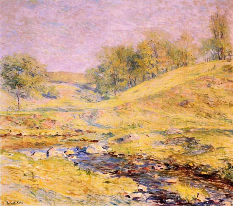 Landscape with Stream by Robert Lewis Reid (1862-1929, United States) | Art Reproductions Robert Lewis Reid | WahooArt.com