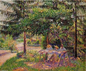Camille Pissarro - Children in a Garden at Eragny