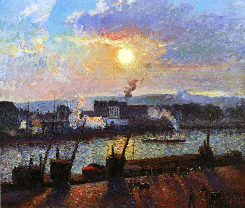 Sunset, Rouen - Camille Pissarro