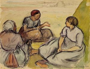 Camille Pissarro - Three Peasant Women