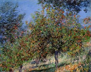 Claude Monet - Apple Trees on the Chantemesle Hill