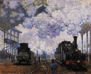 Claude Monet - Arrival at Saint-Lazare Station - (paintings reproductions)