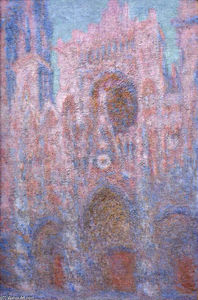 Claude Monet - Rouen Cathedral, Symphony in Grey and Rose - (Buy fine Art Reproductions)