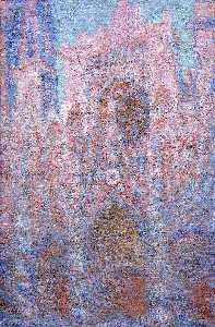 Claude Monet - Rouen Cathedral, Symphony in Grey and Rose - (Famous paintings)