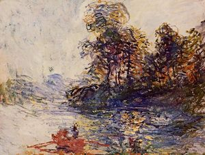 Claude Monet - The River - (paintings reproductions)