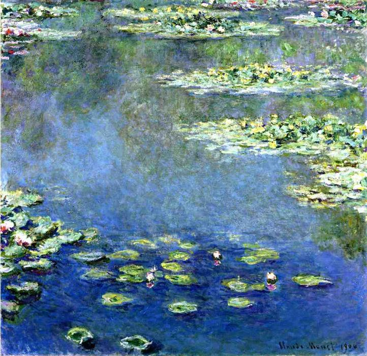 Water Lilies, 1906 by Claude Monet (1840-1926, France) | Museum Art Reproductions Claude Monet | WahooArt.com