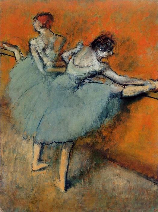 Dancers at the Barre 1, 1888 by Edgar Degas (1834-1917, France) | Museum Quality Copies Edgar Degas | WahooArt.com