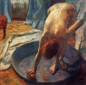 Edgar Degas - The Tub 1 - (Famous paintings reproduction)