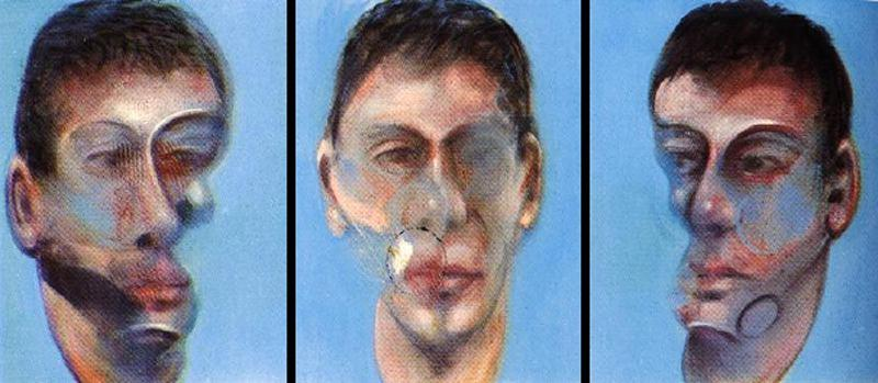 Three Studies for a Portrait of John Edwards by Francis Bacon (1909-1992, Ireland) | Art Reproduction | WahooArt.com