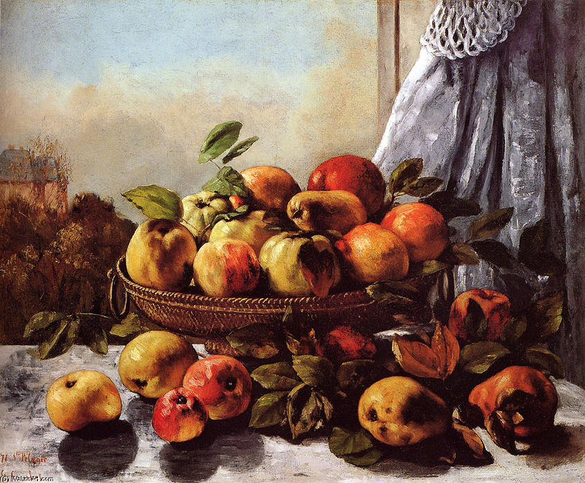 Still Life Fruit, 1872 by Gustave Courbet (1819-1877, France) | Art Reproductions Gustave Courbet | WahooArt.com