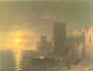 A Lunar night in the Constantinople