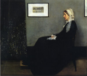 James Abbott Mcneill Whistler - Arrangement in Grey and Black. Portrait of the Painter's Mother - (oil painting reproductions)