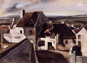 Jean Baptiste Camille Corot - The Inn at Montigny-les-Cormeilles