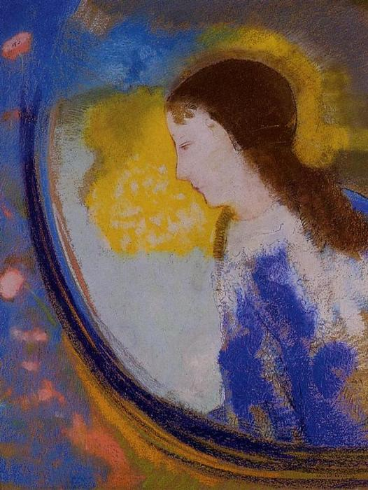 The Child in a Sphere of Light, 1900 by Odilon Redon (1840-1916, France) | Museum Quality Reproductions | WahooArt.com