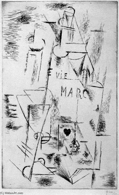 Sill Life with Bottle - Pablo Picasso