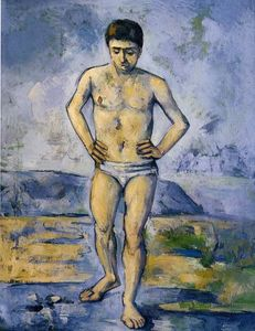 Paul Cezanne - The Large Bather - (Famous paintings reproduction)