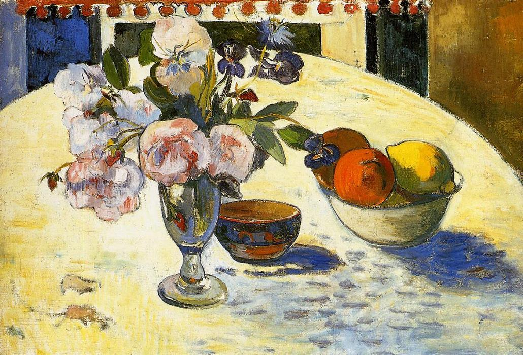 Flowers and Cats by Paul Gauguin Giclee Fine ArtPrint Reproduction on Canvas