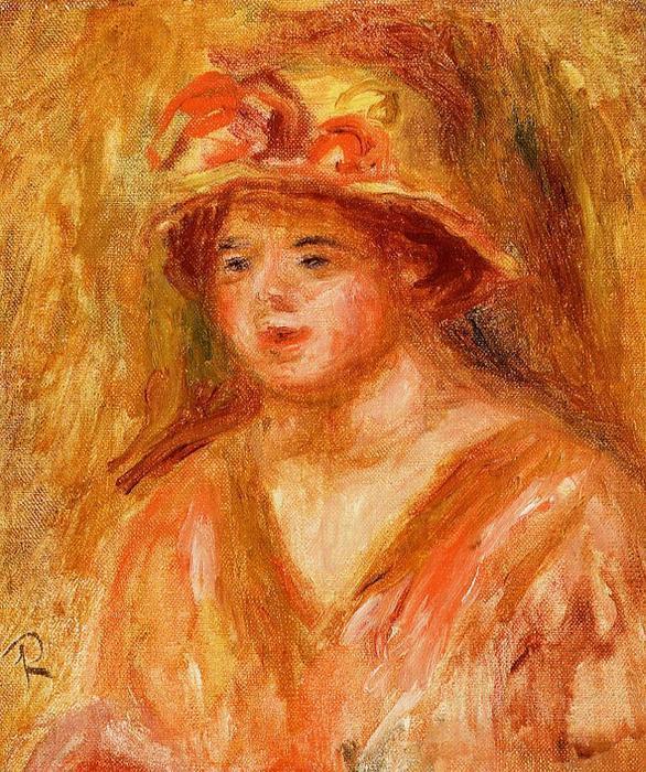 busto de una chica joven en un sombrero de paja fc9ba10886ee