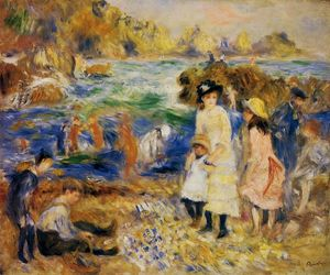 Pierre-Auguste Renoir - Children by the Sea in Guernsey - (oil painting reproductions)