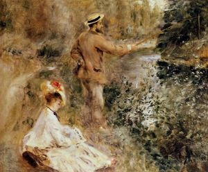 Pierre-Auguste Renoir - The Fisherman - (oil painting reproductions)