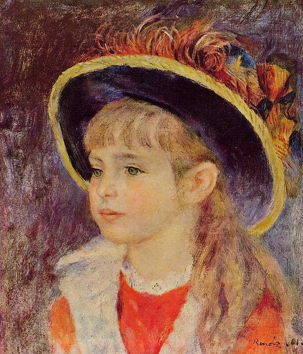 niña joven en un azul sombrero f2a1d611315d