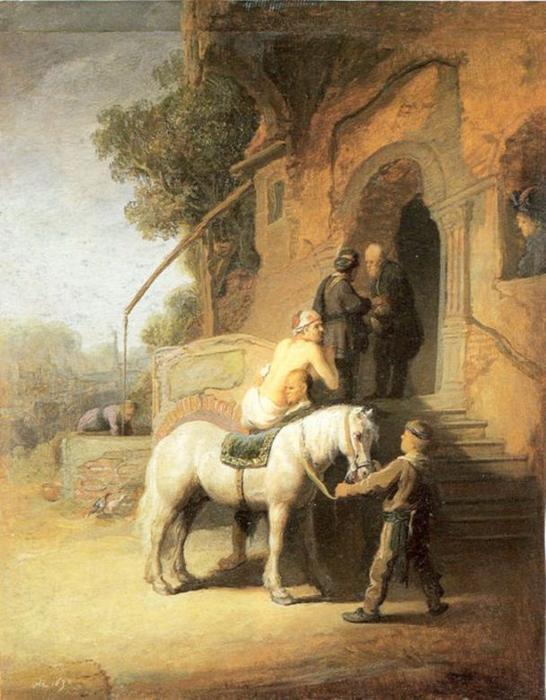 Michel blogue/Sujet/L'ignorance que nous avons de l'Église de Jésus-Christ et du Prochain Rembrandt-van-Rijn-Charitable-Samaritan-aka-The-Good-Samaritan-