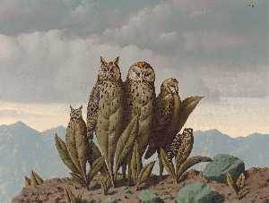 Rene Magritte - The companions of fear - (paintings reproductions)