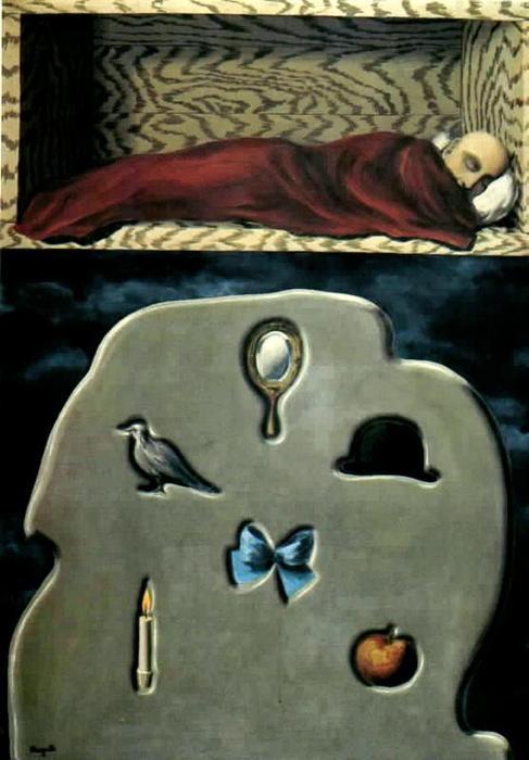 El Durmiente imprudente de Rene Magritte (1898-1967)