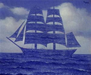 Rene Magritte - The seductive - (Famous paintings)