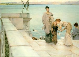 Lawrence Alma-Tadema - A Kiss - (Famous paintings)