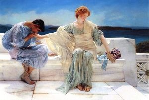 Lawrence Alma-Tadema - Ask Me No More - (Famous paintings reproduction)