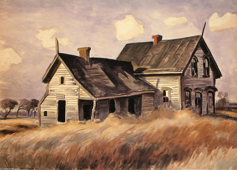 Разрушенная ферма Charles-Burchfield-Abandoned-Farmhouse