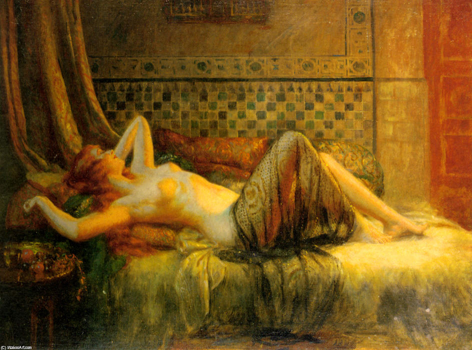 Nudo sdraiato di Delphin Enjolras (1865-1945, France) | Riproduzioni ...