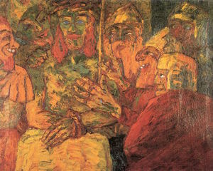 Emile Nolde - The Mocking of Christ - (oil painting reproductions)