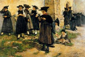 Ernest Bieler - In front of the church of Saint-Germain