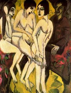 Ernst Ludwig Kirchner - The Judgement of Paris - (paintings reproductions)